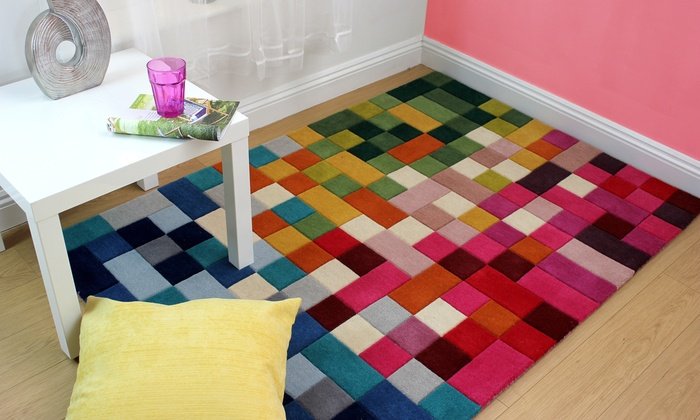 Groupon Goods Global GmbH: Handmade Wool Rug in Choice of Size and Design With Free Delivery