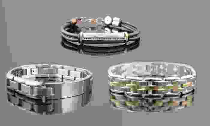 Men's Stainless Steel Bracelets: Men's Stainless Steel Bracelets. Multiple Styles Available from $12.99 to $19.99. Free Returns.
