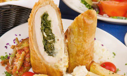 Greek Food for Two or Four or More at Blue Olive Greek Taverna (43% Off)