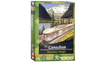 Travel the Canadian Pacific 1,000-Piece Puzzle