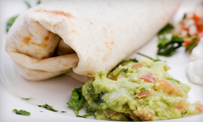 The Burrito Company - Woonsocket: $12 for $25 Worth of California-Style Mexican Food and Drinks for Two or More at The Burrito Company