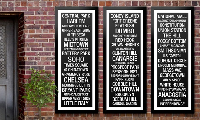 Framed City Bus Roll Prints: $79 for a Framed City Bus Roll Print ($299 List Price). 25 Cities Available. Free Shipping and Free Returns.