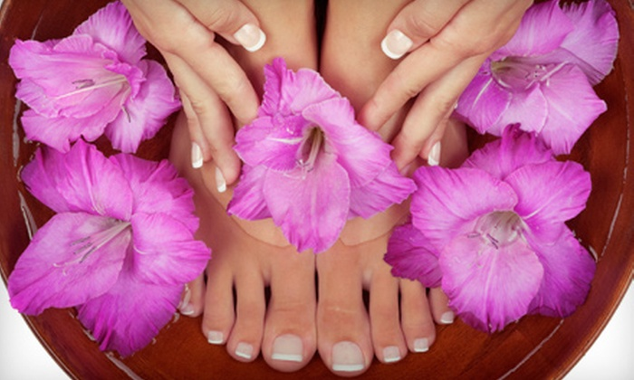 Zen Garden Nail Spa - Evergreen Park: $35 for a Shellac Manicure and Deluxe Pedicure at Zen Garden Nail Spa ($70 Value)