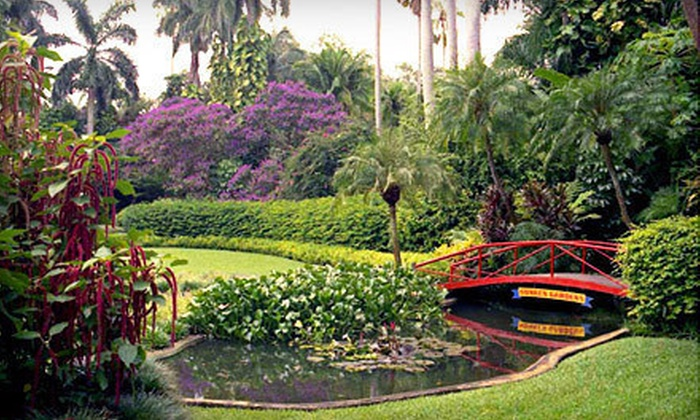 Sunken Gardens - Crescent Lake: Sunken Gardens Visit for Two Adults or Yearlong Family Membership in St. Petersburg (Half Off)