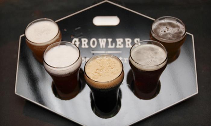 Growlers Beer Bistro - Tuckahoe: One Beer Flight and Bistro Food for Two or Two Flights and Bistro Food for Four at Growlers Beer Bistro (Up to 56% Off)