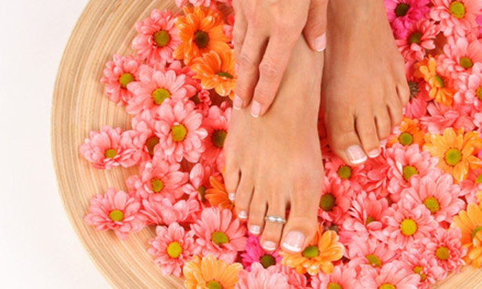 Hyacinth's Boutique and Spa - Colorado Springs: Gelish No-Chip Manicure, or One or Two Spa Mani-Pedis at Hyacinth's Boutique and Spa (Up to 55% Off)