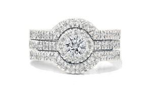1.25 Cttw Diamond 3-piece Bridal Set In 10k Gold - By Bliss Diamond