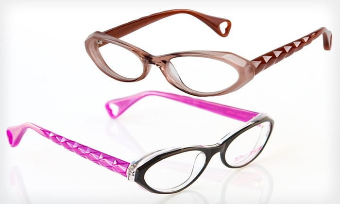 Bejeweled Frames: $39 for Bejeweled Optical Frames by Betsey Johnson ($195 List Price). Two Colors Available.