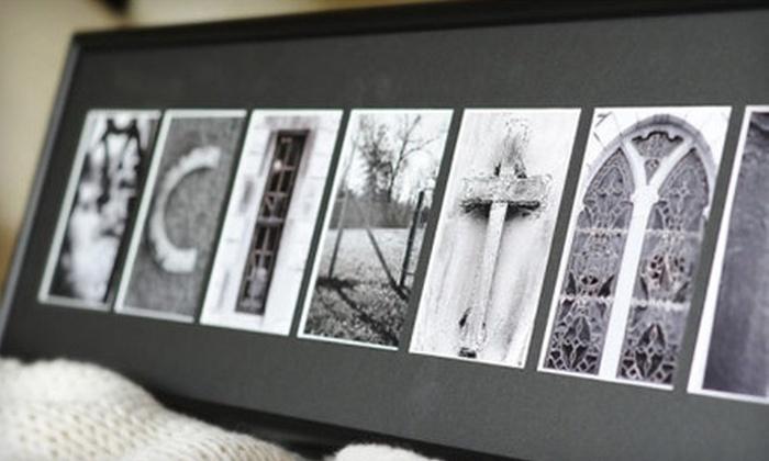 "Sticks and Stones Custom Alphabet Art: $49 for 10""x17"" Framed Custom Alphabet Photography Art from Sticks and Stones ($139.99 List Price)"