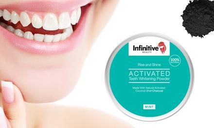 1, 2, 3 of 6 Infinitive Beauty potjes van houtskoolpoeder voor tandenbleken