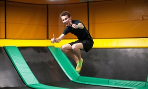 One-Hour Jump Pass for Two, Four, or Six People at Rockin Jump (Up to 47% Off)