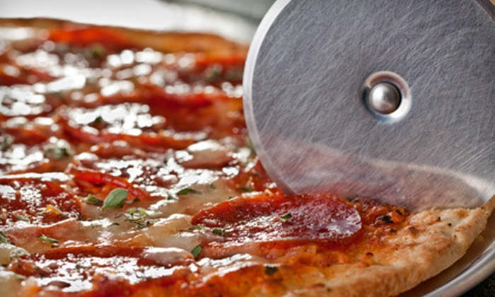 Gourmet Pizza & Grill - Northbridge: $16 for Pizza Meal with Salads or Appetizers and Drinks for Two at Gourmet Pizza & Grill in Milford (Up to $32.15 Value)