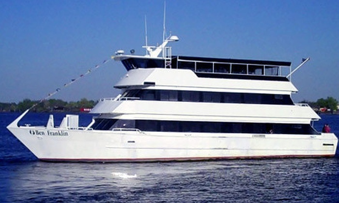 "The Ben Franklin Yacht - Northern Liberties -  Fishtown: Two-Hour Philadelphia Harbor Cruise for Two or Four from ""The Ben Franklin Yacht"" (Up to 53% Off)"