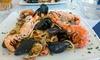 Ristorante Il Muretto - Comacchio: Menu con 1 kg di spaghetti allo scoglio, dolce e vino per 2 persone al ristorante Il Muretto (sconto fino a 53%)