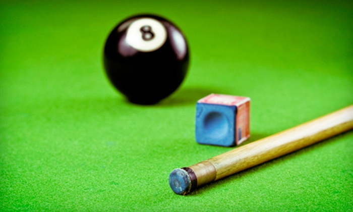 Pink Galleon Billiards and Games - Multiple Locations: $15 for Two Hours of Pool with $20 Worth of Pub Food and Drinks at Pink Galleon Billiards and Games ($39 Value)