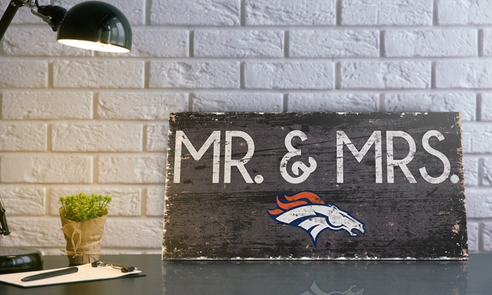 40% off NFL Mr. & Mrs. Sign
