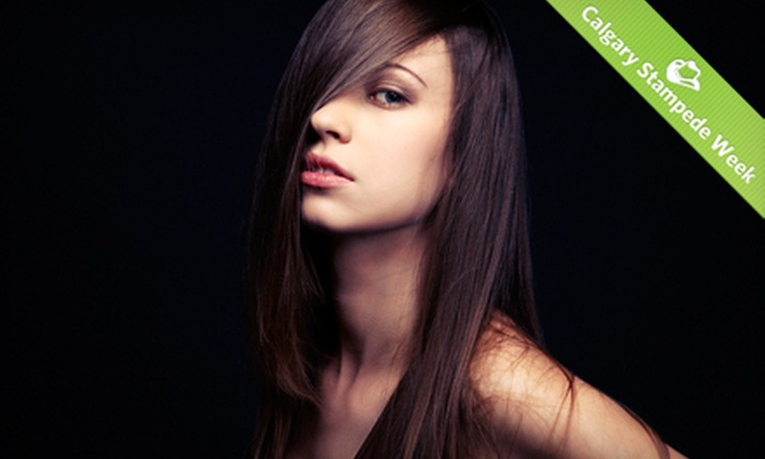 Glow Hair & Nails - Cranston: $55 for Moroccanoil Reconstructive Treatment Package with Haircut and Style at Glow Hair & Nails ($115 Value)