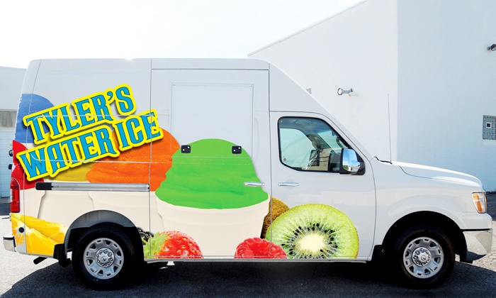 Tyler Water Ice - Wilmington-Newark: $150 for a 60-Minute Water-Ice Truck Rental and 50 Large Water Ices from Tyler Water Ice ($250 Value)