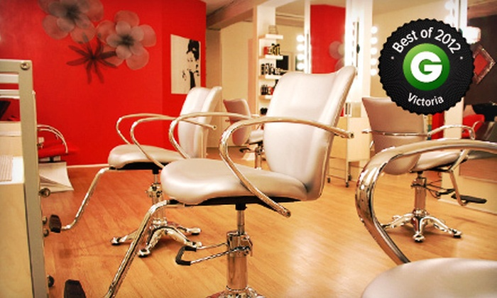 OM Vogue Hair Lounge - OM Vogue Hair Lounge: Haircut, Style, and Conditioning Treatment with Optional Highlights and Toner at OM Vogue (Up to 61% Off)