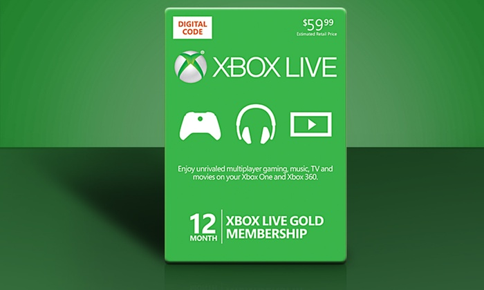 12-Month Xbox Live Gold Card and $10 in Groupon Bucks: 12-Month Xbox Live Gold Card and $10 in Groupon Bucks.