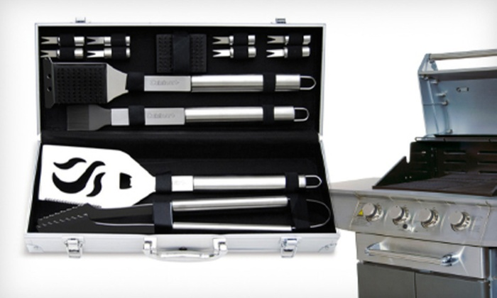 Cuisinart Grilling Set: $29 for a Cuisinart 14-Piece Grilling Set ($49.99 List Price). Free Shipping and Free Returns.