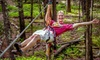The Adventure Center at Skytop Lodge - Adventure Center: $40 for Three-Hour Treetop Obstacle Course with Ziplining for Two at The Adventure Center at Skytop Lodge ($80 Value)