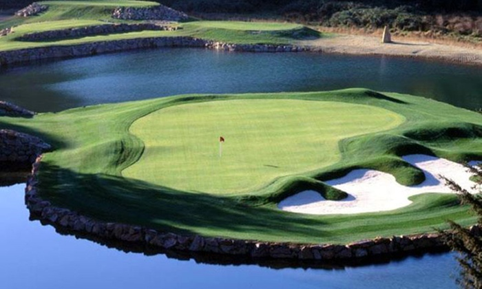 Salmon Run - Harbor: 18 Holes of Golf for Two  with Optional Power Cart Rental at Salmon Run in Brookings (Up to 50% Off)