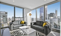 Melbourne: 1 or 2 Nights for Four with Wine on Arrival and Late Check-Out at Serviced Apartments Melbourne - Mondo