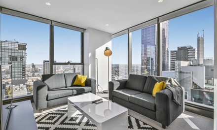 Melbourne: 1 or 2 Nights for Two or Four People with late checkout and Wine at Serviced Apartments Melbourne Eporo