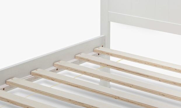 rojo matt white solid wooden bed frame single 199 or king
