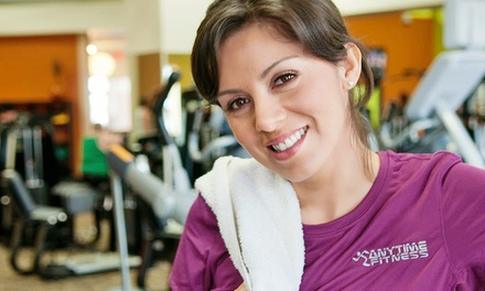 One-Month Membership with Add-On for One or Two at Anytime Fitness (Up to 63% Off)