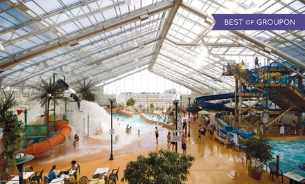 groupon daily deal - Stay with Family Package at Americana Resort and Waves Indoor Waterpark in Niagara Falls, ON. Dates into May.