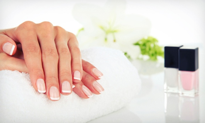 Esthetique - Red Bird Shopping Center: $22 for a Spa Mani-Pedi at Esthetique ($45 Value)