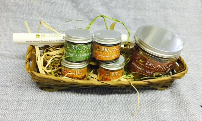 Brundo Ethiopian Spice Company - American Steel Studio: Ethiopian Cooking Class for One or Two with Spice Starter Set and Spice Book at Brundo Ethiopian Spices (Up to 52% Off)