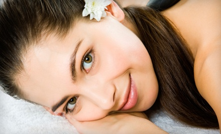 Spa package for one with massage, facial, hand or foot scrub, and foot detox