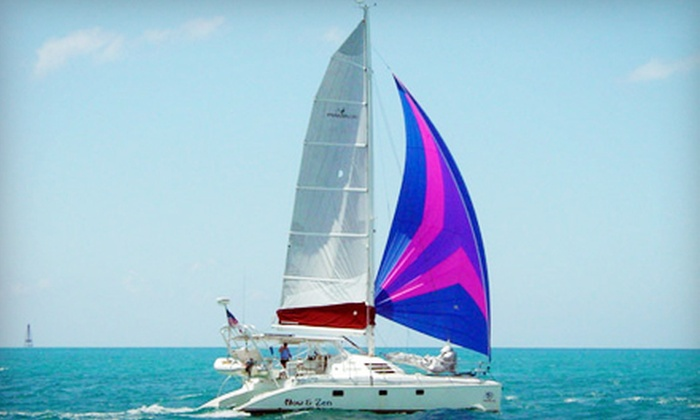 Now and Zen Charters - Northeast Coconut Grove: Five-Hour Weekend or Weekday Catamaran Cruise for Up to 12 from Now and Zen Charters (Up to 51% Off)