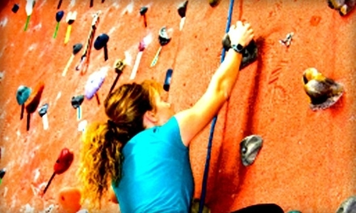 Stone Moves Indoor Rock Climbing - Houston: Indoor Rock-Climbing Outing for Two With Optional One-Hour Lesson at Stone Moves Indoor Rock Climbing (Up to 70% Off)