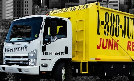 $35 for Removal of Up to 250 Pounds of Junk from 1-888-JUNK-VAN ($152 Value)