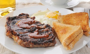 The Breakfast House: Biscuits and Gravy, Steak and Eggs, or Chicken Fried Steak for Two at The Breakfast House (Up to 58% Off)