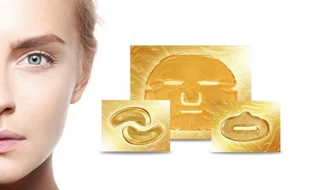 Hata 60 packs de mascarillas para la cara, ojos y/o labios de colágeno con oro