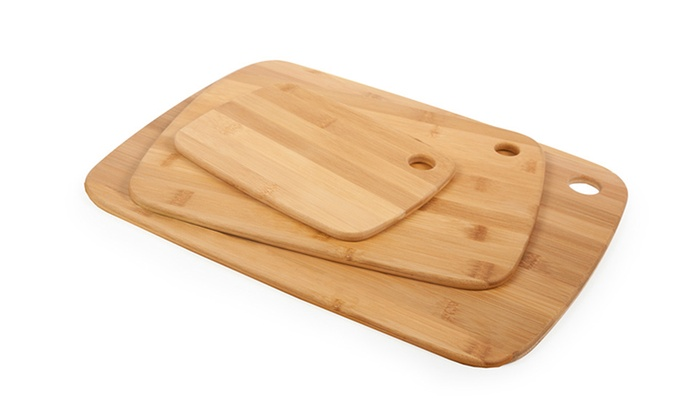 Set of 3 Core Bamboo Cutting Boards: Set of 3 Core Bamboo Cutting Boards in Classic, Pinstripe, or Two-Tone. Free Returns.