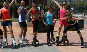 Kandoo Rebounding: Three or Five Aerobic Fitness Classes with Kangoo Jump Boot Rental at Kandoo Rebounding (Up to 81% Off)