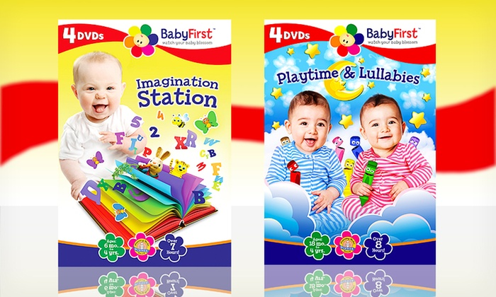BabyFirst 8-DVD Set: BabyFirst DVDs: Imagination Station and Playtime & Lullabies. Free Shipping.