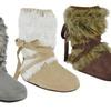 Muk Luks Tonal Fur Wrap Boots