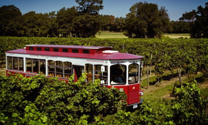 North Fork Trolley Company - The All Star: Trolley Tour of Three Wineries for Two or Four from North Fork Trolley Company (Up to 52% Off)