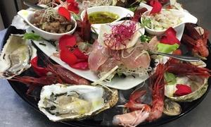 Corner08: Menu gourmet di carne o pesce e vino per 2 persone da Corner08, sul lago di Monate (sconto 53%)