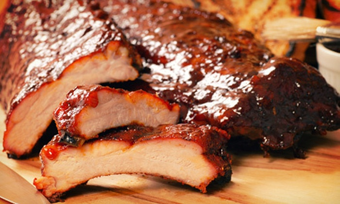 Hickory House Ribs - Multiple Locations: Barbecue at Hickory House Ribs, Redeemable Sunday–Thursday or Friday and Saturday (Up to 57% Off)