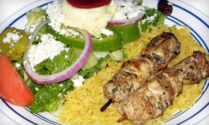 Little Greek - Westchase: $10 for Two Greek Entrees at Little Greek (Up to $19.98 Value)