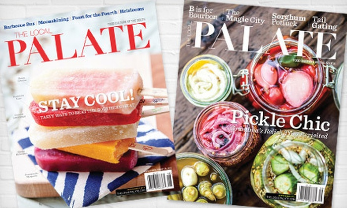 """""""The Locale Palate"""" - Greenville: One- or Two-Year Subscription with Online Access to """"The Local Palate"""" (Up to 55% Off)"""