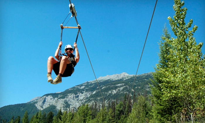 Awesome All Season Adventures - Golden: C$57 for a Zipline Tour from Awesome All Season Adventures (C$114 Value)